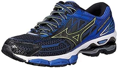 Mizuno Men's Wave Creation Shoes, Black/Dazzling Blue, 10 US