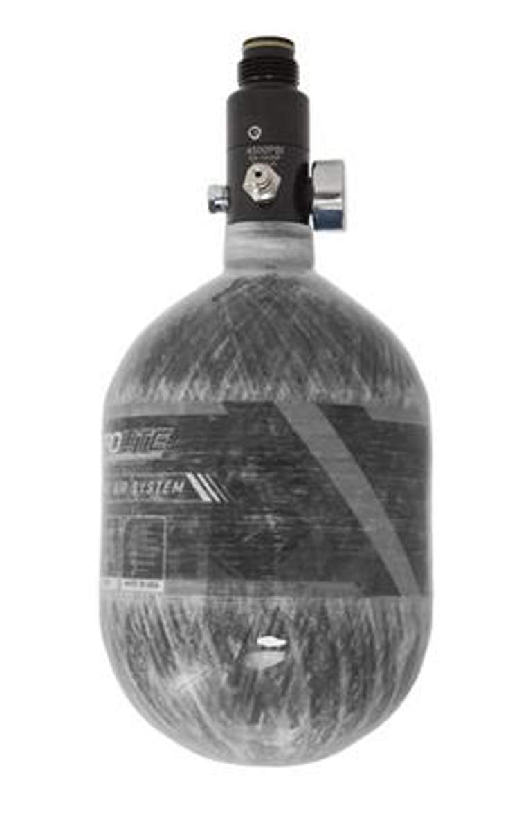 HK Army Aerolite Carbon Fiber HPA Paintball Tank Air System - 48ci / 4500psi (Clear Carbon) by HK Army