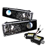 92 chevy 1500 hid headlights - Chevy C/K Series 1500/2500/3500 / Chevy Tahoe / GMC C/K Series 1500/2500/3500 / GMC Jimmy / GMC Yukon ( Replaceable City Lights ) / Chevy Silverado / Chevy Suburban Projector Headlights Black Housing With Clear Lens