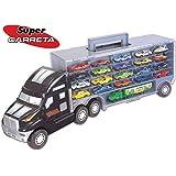 Caminhão Super Carreta com 21 Veículos Braskit