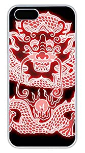 Brian114 iPhone 5S Case - China Dragon Oriental Style 11 Back Case Cover for iPhone 5 5S Hard White Cases