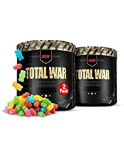 2 Pack Redcon1 Total War - Pre Workout Powder, 30 Servings, (Sour Gummy Bear) Boost Energy, Increase Endurance and Focus, Beta-Alanine, 350mg Caffeine, Citrulline Malate, Nitric Oxide Booster