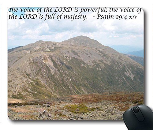 Inspirational Bible Verse Quotes Psalm 29:4 Oblong Mouse Pad in 240mm*200mm*3mm VQ0711037