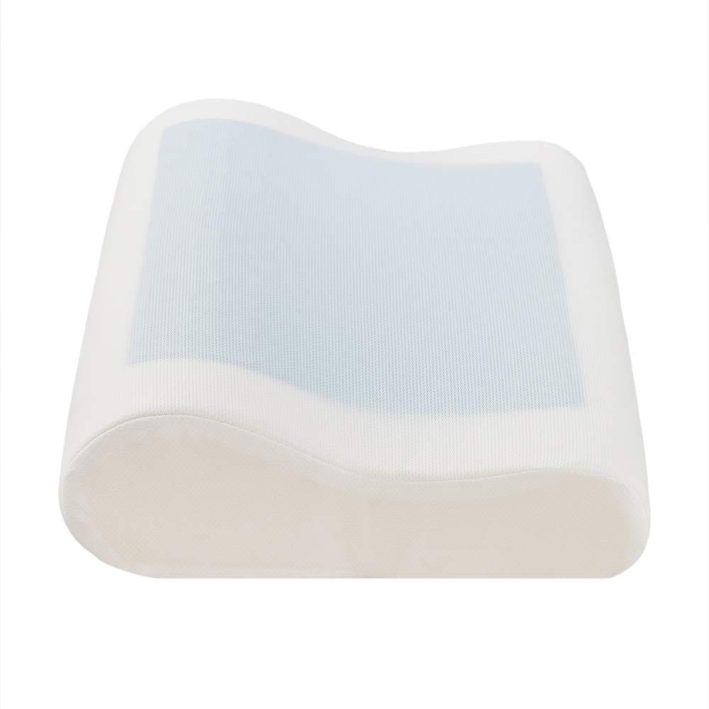 DIKAPA 整形外科用メモリーフォーム枕 ネックサポート&ジェル冷却パッド付き 低刺激性枕 通気性竹カバー付き (ジェル冷却パッド付き枕) B07QJ3R3TZ