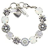 Mariana Silk Guardian Angel Style Tennis Bracelet, Silver Plated, 8'' 4501/1 1049