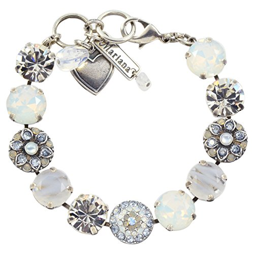 Mariana Silk Guardian Angel Style Tennis Bracelet, Silver Plated, 8'' 4501/1 1049 by Mariana