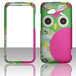 2D Night Bird HTC Droid Incredible 4G LTE 6410 Verizon Case Cover Phone Snap on Cover Cases Rubberized Frosted Matte Surface Hard Shells