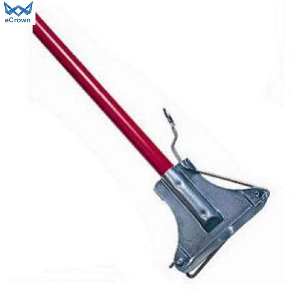 eCrown Kentucky Steel Mop Handle 137cm - Red