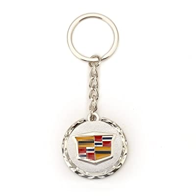 Compatible for Cadillac 3D Metal Logo Car Key Chain Ring Marked Model Keychain: Automotive