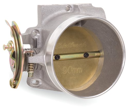 Satin Throttle Body - Edelbrock 38640 Victor LS Series Throttle Body 90mm 1100 CFM w/o TPS and IAC Designed For Modified GM Gen III-IV High-Perf. Street Or Competition Apps Satin Finish Victor LS Series Throttle Body