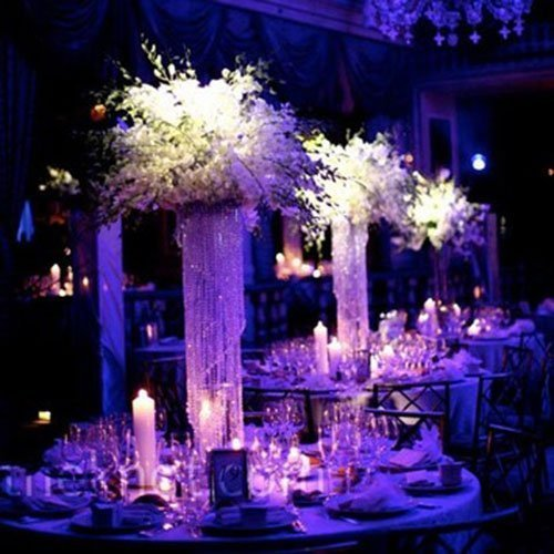 Forbes Favors ™ 25 Glamorous Spiral Chandelier Centerpiece Wedding & Special Occasion Centerpiece with Battery LED Lights Wedding, Birthday, Anniversary ( 6, 7 or 8 Diameter) Anniversary ( 6 7 or 8 Diameter)