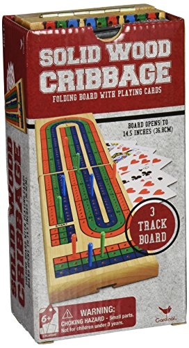 Solid Wood Folding Cribbage Set (Cribbage Board Game compare prices)