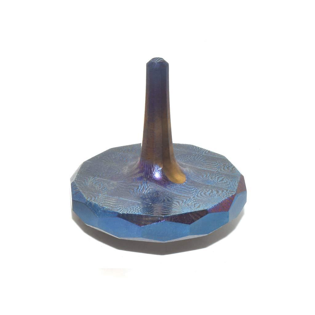 MetonBoss MOKUME-Gane Roman Titanium Spinning Top - Aerospace Grade 5 Titanium (Heat Colored Purple)