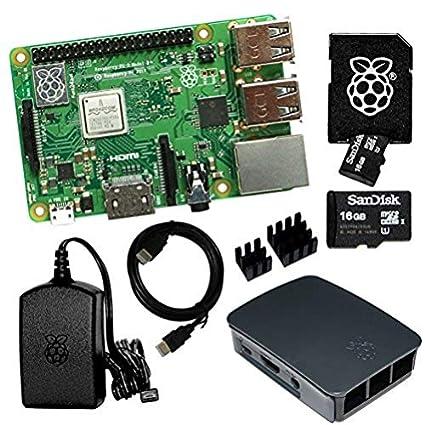 Raspberry Pi 3 Model B + Bundle con Tarjeta SD de 16 GB ...