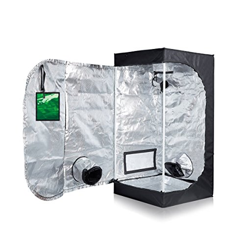 Oppolite 24''X24''X48'' Mylar Hydroponic Grow Tent Room for Indoor Plant Growing /Green View Window METAL Corners 2''x2'' (24''X24''X48'') by Oppolite