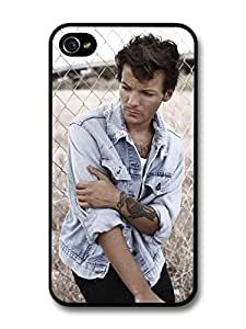 Louis Tomlinson Denim Jacket Tatoo 1D One Direction case for iPhone 4 4S A1248