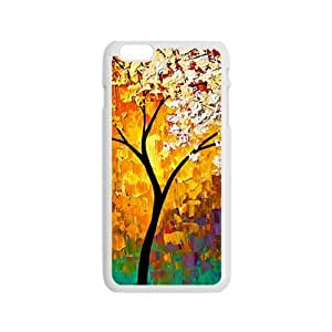 Abstract colorful tree oil painting Phone Case for iPhone 6