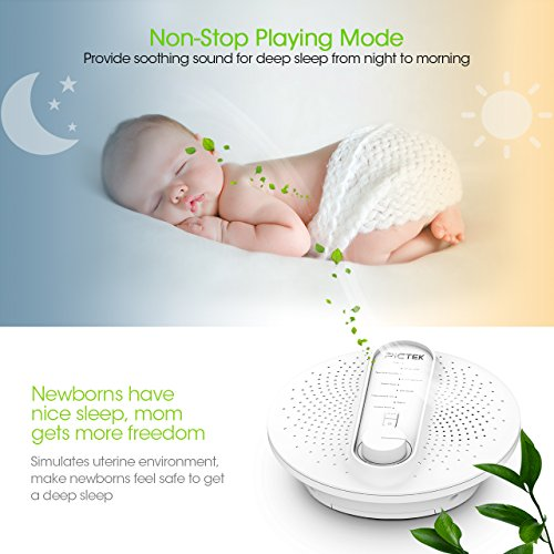 Pictek-White-Noise-Machine-24-Soothing-Sleep-Therapy-Sound-Machine-with-Playing-All-Night-or-Other-Timer-Option-Sound-Spa-Relaxation-Machine-for-Baby-Adult-and-Traveler-Adapter-Not-Included