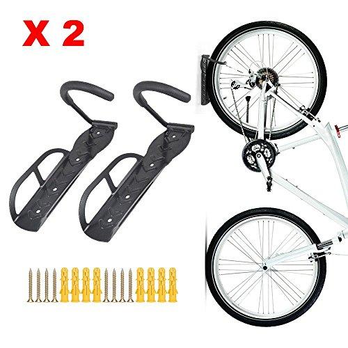 Teraysun Wall Mounted Bike Rack Stand Space Saving Vertical Hanger 2pcs by Teraysun