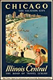 EzPosterPrints - Vintage Style Travel Poster Series- Poster Printing - Wall Art Print for Home Office Decor - Chicago - 24X36 inches