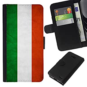 eJoy---La carpeta del tirón la caja de cuero de alta calidad de la PU Caso protector - LG OPTIMUS L90 - --Hungary Grunge Flag