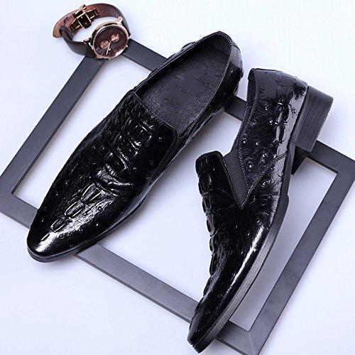Zapatos De Trabajo Para Zapatos De MYXUA Derby Vestir Negro Hombres Zapatos Negocios Vestidos Cuero Para De Y6TqqwtFU