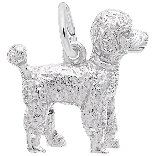 - Poodle Charm In Sterling Silver, Charms for Bracelets and Necklaces