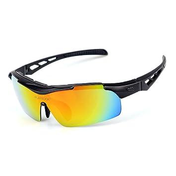 Gafas de ciclismo Protección UV 400 Gafas de sol deportivas Anti-niebla Corriendo HD Protección