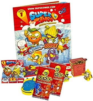 Superzings rivali di Kaboom SERIE 5 Fumetto guida Pack Starter Pack