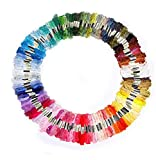 Wisehands Cross Stitch Embroidery Threads Floss Random Multiple Colors for Sewing Art Craft DIY Creative Outlet
