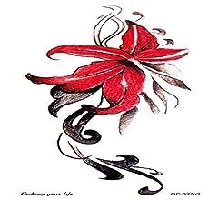 adgkitb 4 Piezas Flores Brazos Tatuaje Colorido Arte Impermeable ...