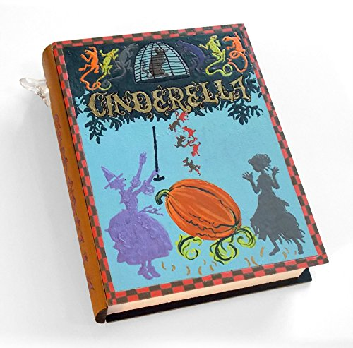 Cinderella- wooden hideaway book box. Secret safe box.