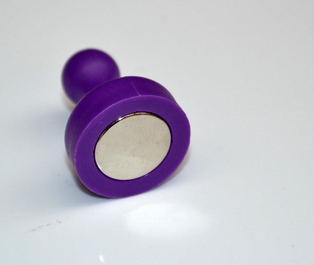 Neodym f/ür Pinnwand violett gro/ß /Ø 19 x 25mm Whiteboard 10 x Kegelmagnet//Kegel Pinnwand Magnet Neodym K/ühlschrank h/ält 2,3 kg