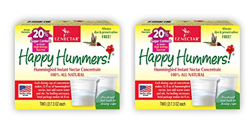 (EZNectar All-Natural Hummingbird Nectar Concentrate Powder, 2-2pk (29.2 oz. Total - Makes 128 oz. of Nectar))