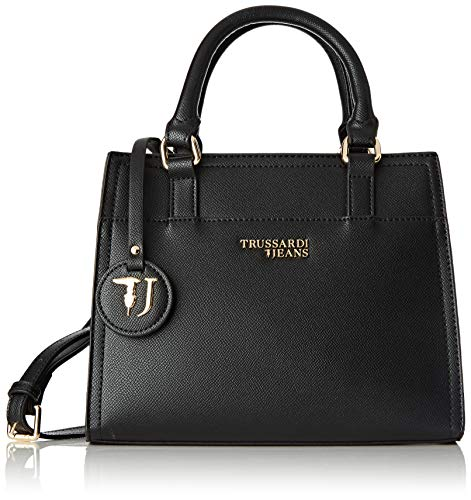 Trussardi Jeans T-easy Light Tote, Women's, Black, 25x20x10 cm (W x H L) ()
