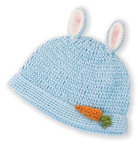 Newborn Crochet Blue Bunny Hat - Boys Easter Outfits