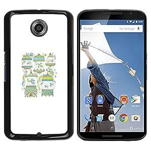 """Pulsar Snap-on Series Teléfono Carcasa Funda Case Caso para Motorola Google NEXUS 6 / XT1100 , La metáfora del pájaro minimalista blanca Significado"""""""