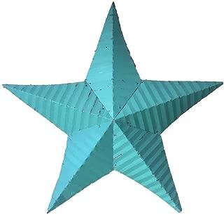 "product image for 18"" Tin Rustic Barn Star Garden Decor - Aruba Blue"