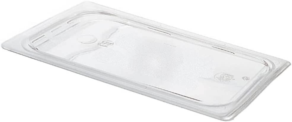 Cambro 30CWC135 Camwear Food Pan Cover 1/3 size flat clear - Case of 6