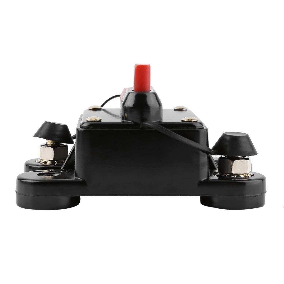 Sunnyflowk 50A 60A 80A 100A 125A 150A 200A 250A opzionale Car Audio Inline Fusibile dellinterruttore per protezione 12V SKCB-01-100A 125 nero