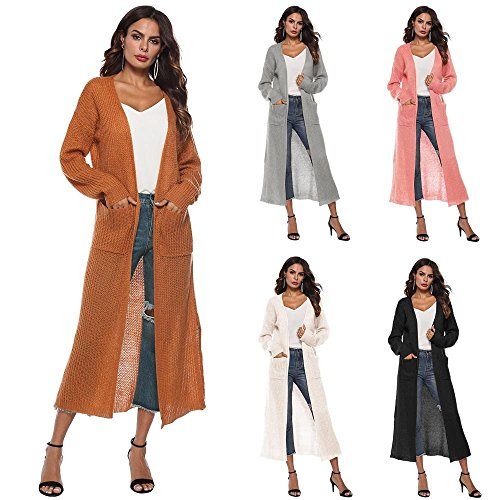 SMALLE ◕‿◕ Clearance, Women Autumn Long Sleeve Open Cape Casual Coat Blouse Kimono Jacket Cardigan by SMALLE (Image #6)