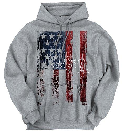 State Flag Sweatshirt (Classic Teaze USA Flag Stars Stripes America United States Patriotic Pride Hoodie Sweatshirt)