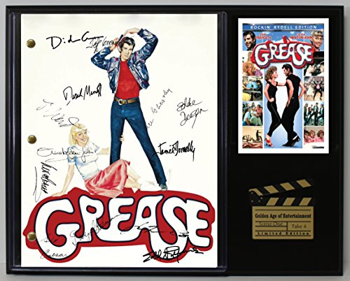 GREASE LTD EDITION REPRODUCTION SIGNED CINEMA SCRIPT DISPLAY