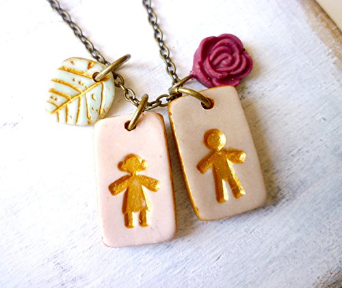 boy mother about a little disc chain sterling win charms measure plate gold silver necklace kate two mini heart from hood or the maman merci lengths