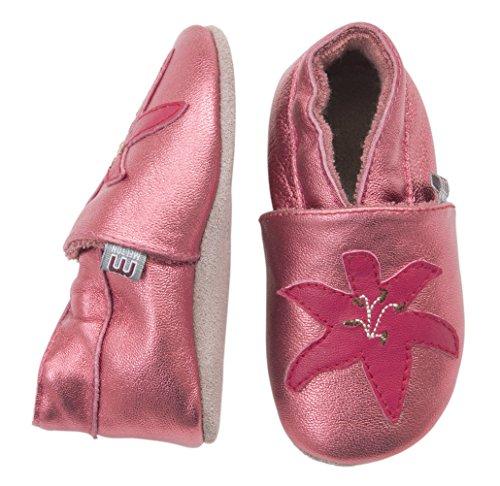 MOVE BY MELTON Leathershoe, Lily, Hausschuh Mädchen - Patucos de cuero para niña rosa - Pink (528/Dark pink)