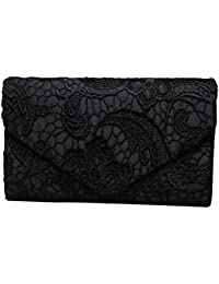 Evening Clutch, Womens Floral Lace Envelope Clutch Purses, Elegant Handbags For Wedding And Party