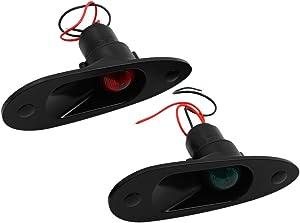 Marine Boat Navigational Side Bow Tear Drop Lights Flush Mount 12V 24V