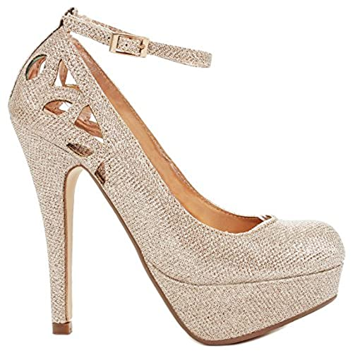 Rose Gold High Heels: Amazon.com