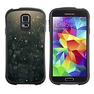 LASTONE PHONE CASE / Suave Silicona Caso Carcasa de Caucho Funda para Samsung Galaxy S5 SM-G900 / Suspension Black Bubbles Hope