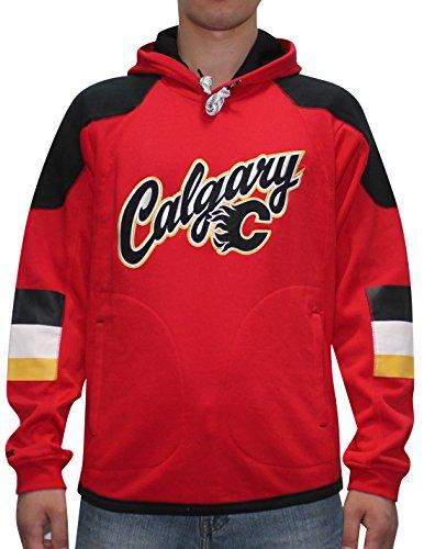 NHL CALGARY FLAMES Mens Athletic Pullover Hoodie / Sweatshirt XL - Shopping Outlet Calgary
